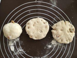 くるみパン・成型