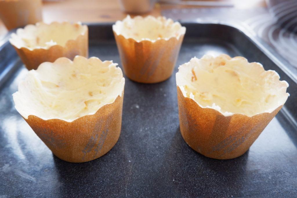 卵1個でオレンジマフィン