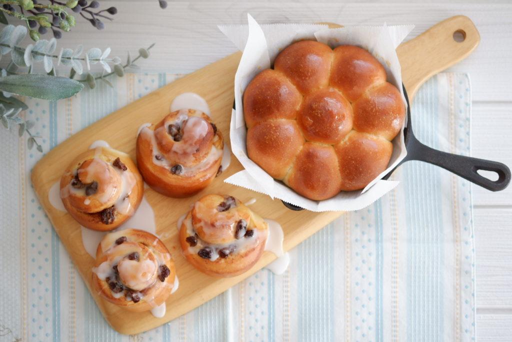シナモンロール&ちぎりパン
