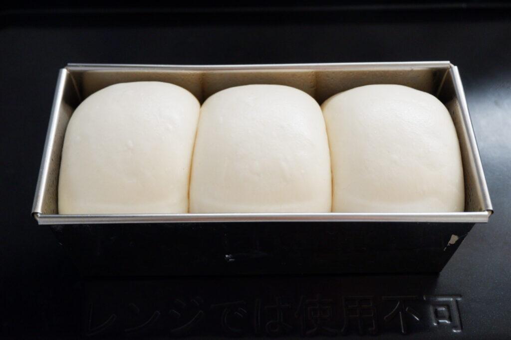 冷蔵発酵で、ミルク食パン
