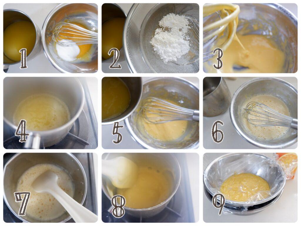 オレンジカスタードの作り方